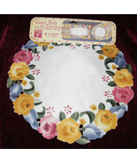 """5 CLASSIC AMERICAN CRAFTS 14"""" ROUND FLORAL CUT OUT DOILY NEW - $9.99"""