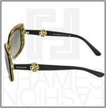 BVLGARI INTARSIO 8146B 5325/11 Black Gold Sunglasses 8146 Square Women Gradient image 3