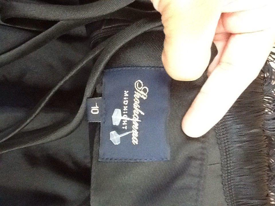 $575 soshanna women midnight vera fringe dress: size 10: black image 5