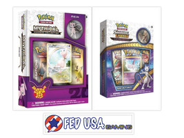 Pokemon Shining Legends Mewtwo and Mew Mythical Collection Pin Boxes Bundle - $39.99