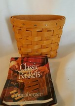 Longaberger 1999 OREGANO BOOKING BASKET With Plastic Protector - $18.00
