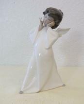 New Lladro Glazed Puzzled Mime Cherub Angel #4959 1977-1991 Retired 8.75... - $69.95
