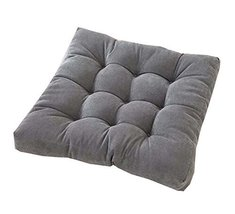 21-Inch Square Floor Pillow Tufted Support Padded Boosted Cushion, Gray - $40.45