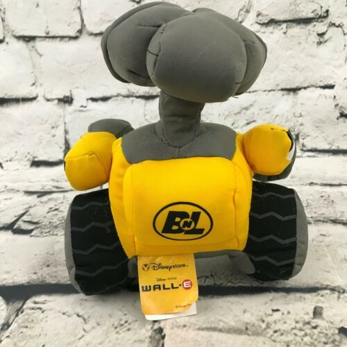 Disney Pixar Wall-E Robot Plush Yellow Gray Stuffed Animal Soft Toy