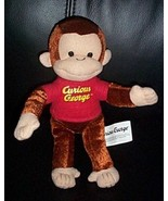 "Curious George in Red T-Shirt KellyToy 16"" Bright Fun Plush Monkey - $7.79"