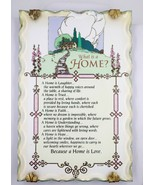 KathyAnn Crystal Inspirations Plaque What is Home Decorative Wall Plaque... - $14.84