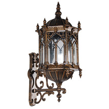 Bronze Finish Gothic Medieval Lamp Metal Porch Light Wall Sconce Fixture... - $196.02