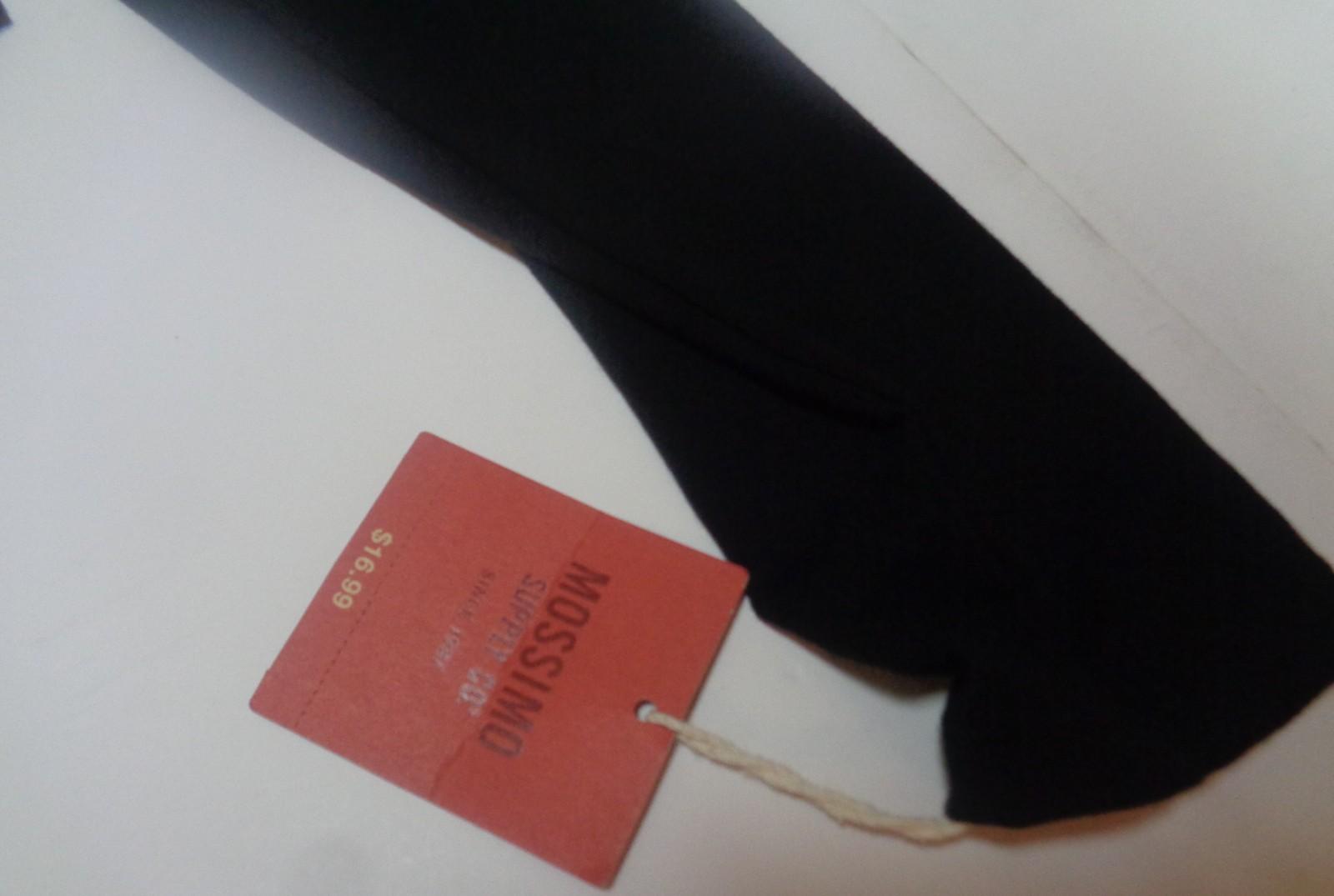 Mossimo Long Sleeve Ballet Crop Top Ebony NWT SZ L