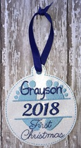Personalized Babies First Christmas Ornament - $7.00