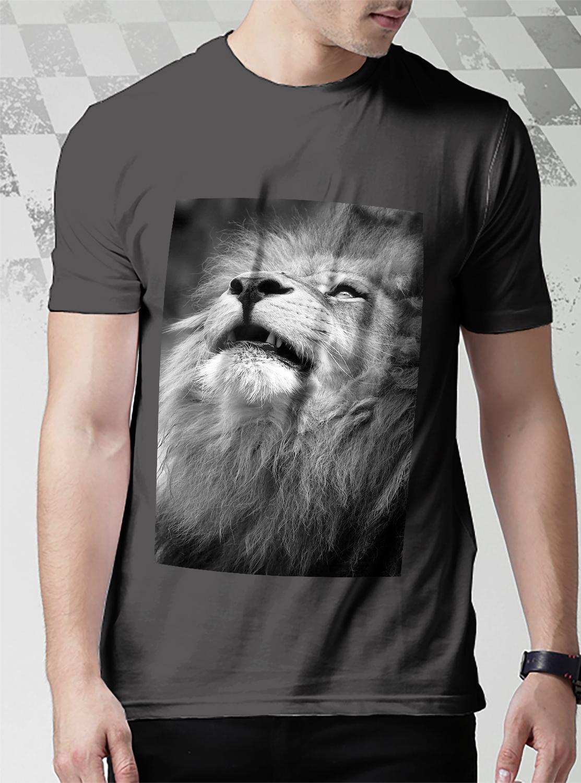 2b05d699 Majestic Lion Portrait T-Shirt Men Black and 50 similar items