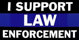 Lot of 6 I Support Law Enforcement Thin Blue Line Vinyl Decal Bumper Sticker - $8.88