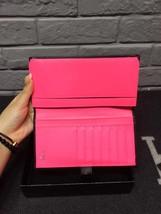 AUTHENTIC CHANEL Rue Cambon Black Hot Pink Lambskin Bi-Fold Wallet Clutch Bag image 9