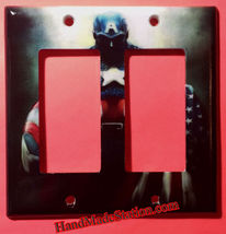 Captain America US Flag Light Switch Outlet Wall Cover Plate Home decor image 5