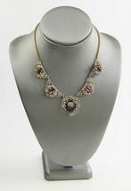 "16"" ESTATE VINTAGE Jewelry ORNATE ART DECO AMETHYST PURPLE GLASS NECKLACE - $95.00"