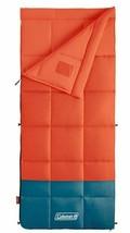Coleman Kompact Sleeping Bag 40D Rectangle Camping Hunting TIGER LILY ORG- - $69.21