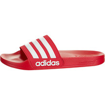 adidas Men's Adilette Cloudfoam Slip On Sandals Scarlet/White AQ1705 - $33.57 CAD
