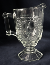 Jeannette Glass BALTIMORE PEAR Footed Creamer - Clear Pressed Glass  - $7.00