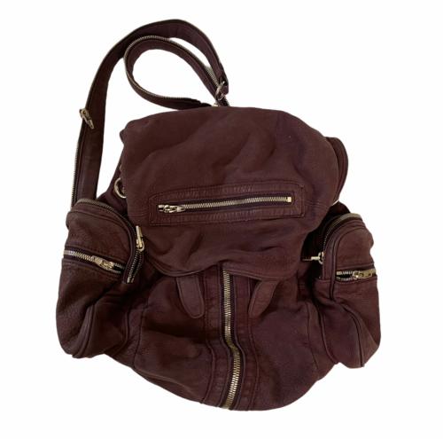 ALEXANDER WANG Marti Lambskin Leather Backpack Rare Burgundy Purse Bag