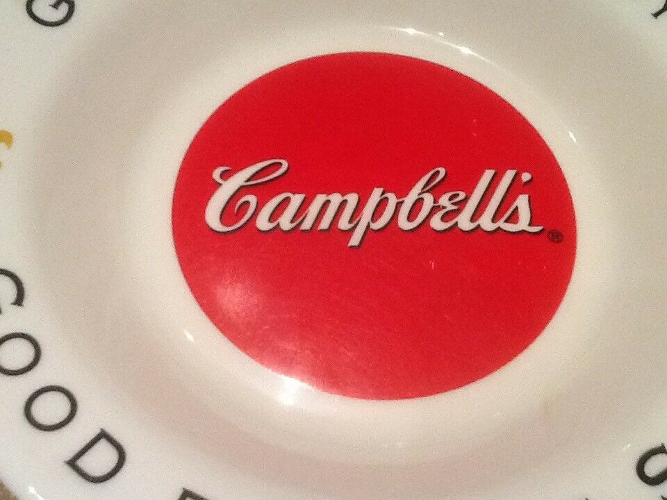 9 CAMPBELL SOUP BOWLS ARCOPAL FRANCE GOOD FOR THE BODY GOOD FOR THE SOUL NICE image 8