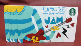 Lot of 4 Starbucks, 2018 YOU'RE MY JAM Recyclable Gift Cards New with Tags - $7.90