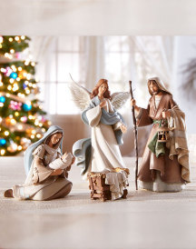 3 figure bethlehem nights nativity set q39