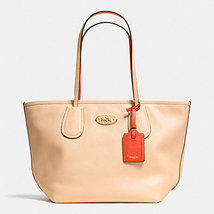 Coach Taxi Top Zip Tote City Crossgrain Leather... - $147.00