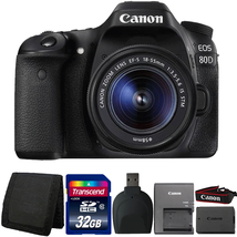 Canon EOS 80D 24.2MP Digital SLR Camera with 18-55mm Lens and Accessory ... - $998.63