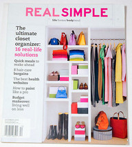 REAL SIMPLE MAGAZINE OCTOBER 2003 THE ULTIMATE CLOSET ORGANIZER ISSUE - $7.91