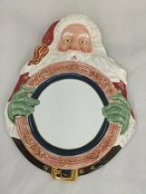 "Department Dept 56 Santa Claus Cookie Plate 12"" - $39.95"