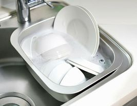 Silicook Stainless Steel Basin Dishpan Dish Washing Bowl Bucket Basket (Hole) image 3