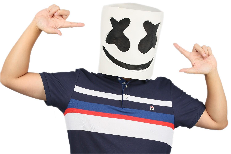 XCOSER Marshmello Helmet Full Head Latex Mask Marshmello Cosplay Mask image 4