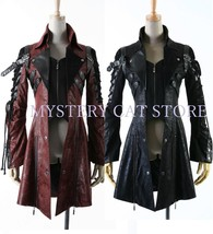 NEW PUNK Rave Gothic Vampire Heavy Metal Jacket Coat Y349 FAST POSTAGE - $140.78