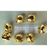 "LOT 25 Shiny Gold Tone Jingle BELLS ~ 25mm (~1"") ~ Metal Craft Holiday B... - $6.61"