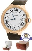 Cartier Ballon Bleu 46mm Mechanical W6920054 3376 18K Rose Gold Silver W... - $12,993.31