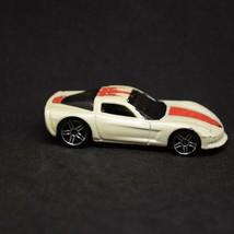 2006 Hot Wheels Chevrolet C6 Corvette HW Open Stock White PR5 Loose 1:64... - $1.73