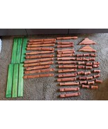 "RARE HTF Giant Sized Lincoln Logs 57 pc set to build a cabin with 1"" dia... - $79.95"