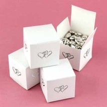 USA Wholesaler- 5210214-White Linked at Heart Favor Boxes - $41.20