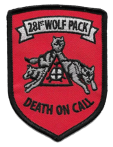 """US Army 281st Wolf Pack Patch 3.5"""" - $13.85"""