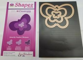 Spellbinders Shapez Creatopia Butterfly 3 Dies Cut Emboss Stencil