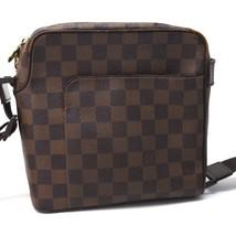 AUTHENTIC LOUIS VUITTON Damier Olaf PM Pochette Shoulder Bag Brown N41442 - $390.00