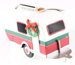 """Wondershop Target 5"""" Tin Camping Trailer With Wreath Christmas Ornament NEW 2018 image 3"""