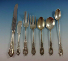 Rose Point by Wallace Sterling Silver Flatware Set For 8 Service 59 Pieces - $3,250.00