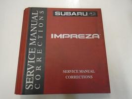 Subaru Impreza Service Manual Corrections Binder Only W/TABS Factory Oem - $19.75