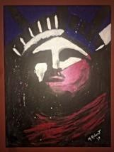 original Pop Art Statue of Liberty Lady Liberty on 18x24 stretched canvas - $185.25