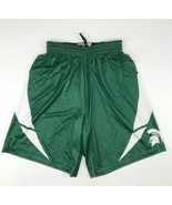 MSU Michigan Spartans Mesh Basketball Short Men's Small Green Powers MFG - $23.76