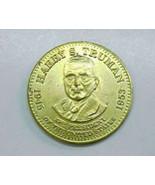 President  Harry S. Truman Goldtone Metal Presidential Token - $7.99