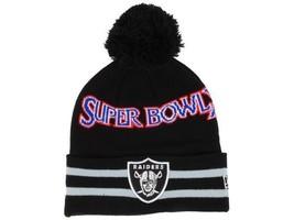 Oakland Raiders New Era Super Bowl XI NFL Football Team Knit Pom Winter Cap Hat - $20.85