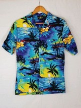 Royal Creations M Hawaiian Shirt Aloha Ocean Beach Sailing Collar Button... - $19.79