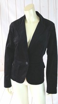 Talbots Blazer 14 Petite NEW Black Velvet Cotton Lycra Stretch Lightweight  - $48.51