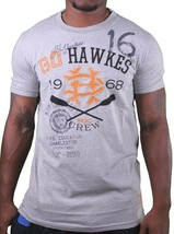 Hawke & Dumar 1968 Go Hawkes Heather Grey Rowing T-Shirt NWT